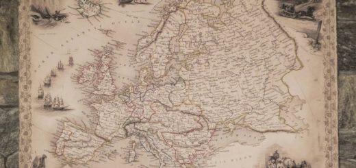 Régi Európa térképek (1851)