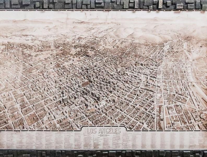 Los Angeles régi város térképe