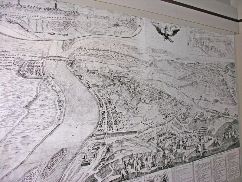 Régi várostérkép Budapest, Magyarország
